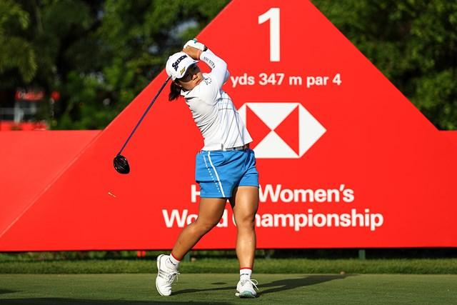 2021年 HSBC女子チャンピオンズ  事前 畑岡奈紗 開幕前日、畑岡奈紗は入念に調整(Lionel Ng/Getty Images)
