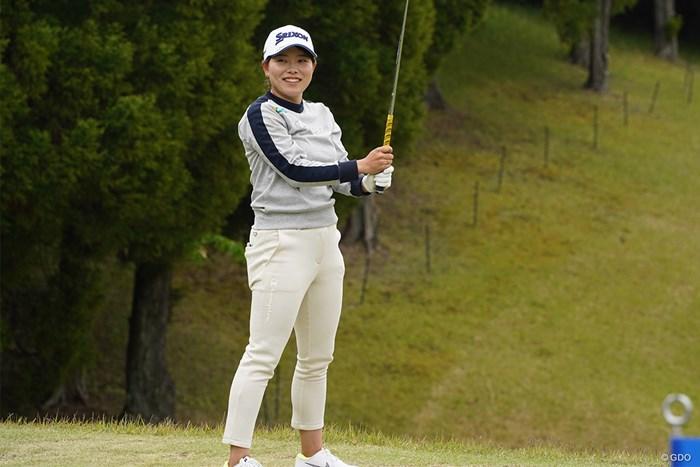 大会連覇へ勝みなみは練習場で最終調整 2021年 パナソニックオープンレディースゴルフトーナメント 事前 勝みなみ