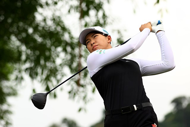 2021年 HSBC女子チャンピオンズ 2日目 渋野日向子 渋野日向子は「73」と調子はあがらず(Yong Teck Lim/Getty Images)