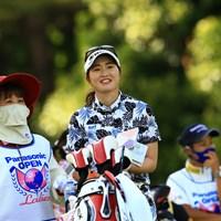 やっと笑顔を見せてくれました 2021年 パナソニックオープンレディースゴルフトーナメント 初日 植竹希望