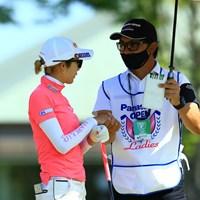 スタート前 2021年 パナソニックオープンレディースゴルフトーナメント 初日 金田久美子
