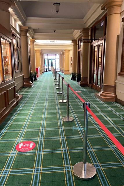 2021年 HSBC女子チャンピオンズ 事前 セントーサGC 整えられたクラブハウス内部(提供:Calvin-Koh)