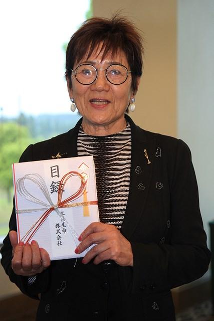 岡田美智子 岡田美智子が国内女子ゴルフツアーで初のエージシュートを達成(大会提供)