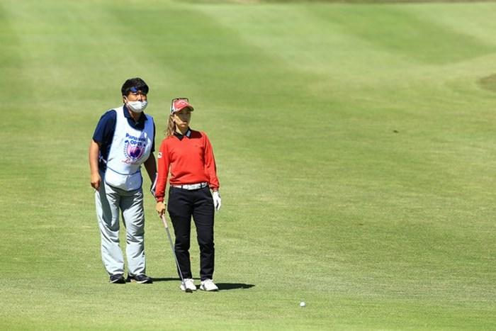 最終日も1ショット、1ショット丁寧に風を読み切った 2021年 パナソニックオープンレディースゴルフトーナメント 3日目 上田桃子