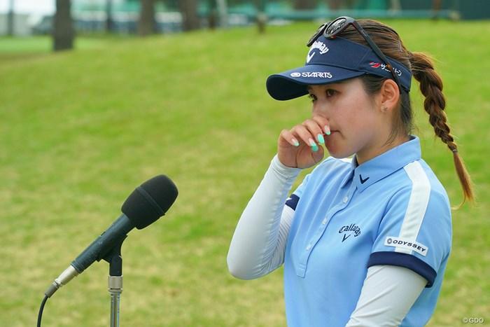 インタビューで涙を見せた西村優菜 2021年 ワールドレディスチャンピオンシップサロンパスカップ 最終日 西村優菜