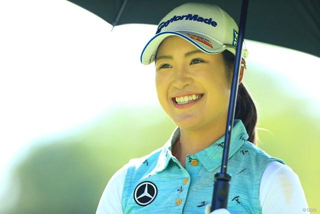 シード選手の大西葵が妊娠と産休入りを発表※写真は2019年「NEC軽井沢72ゴルフトーナメント」
