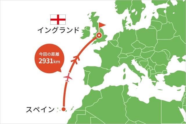 2021年 ベットフレッド英国マスターズ hosted by ダニー・ウィレット 事前 川村昌弘マップ 欧州ツアーのチャーター機で英国に入りました