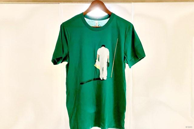 2021年 AT&Tバイロン・ネルソン 事前 早藤将太 Tシャツ 早藤キャディをモデルにしたTシャツが作られた