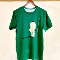 早藤キャディをモデルにしたTシャツが作られた 2021年 AT&Tバイロン・ネルソン 事前 早藤将太 Tシャツ