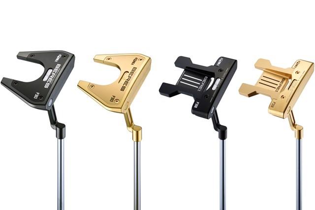 2021年 本間ゴルフ BERESパター 本間ゴルフが「BERESパター」を発売。ツノ型「P303」(左)とT型「P308」
