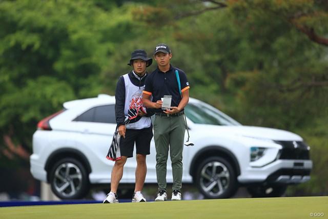 2021年 アジアパシフィックダイヤモンドカップゴルフ 初日 片岡尚之 きれいに車がハマったなーー