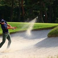 Hole13 par4 345yards bunker shot 2021年 アジアパシフィックダイヤモンドカップゴルフ 2日目 石川遼