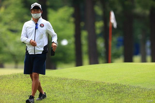 2021年 アジアパシフィックダイヤモンドカップゴルフ 2日目 キャディ スタートは午後なのでコースの下見は入念に