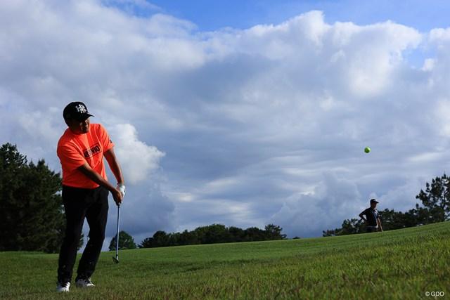 2021年 アジアパシフィックダイヤモンドカップゴルフ 3日目 小田孔明 Hole18 par5 556yards approach shot.