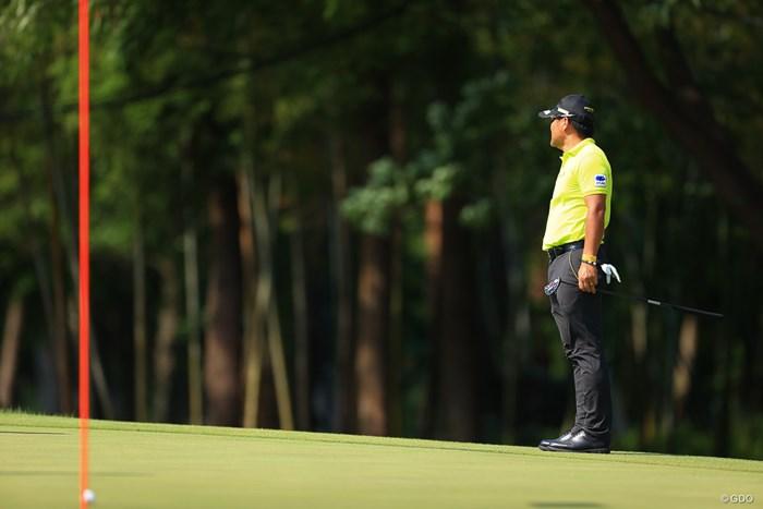 朝も同じ写真を撮ったような、、、 2021年 アジアパシフィックダイヤモンドカップゴルフ 3日目 宮里優作