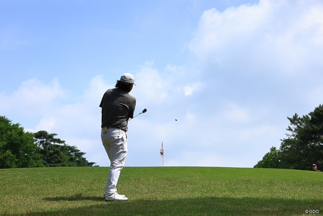 2021年 アジアパシフィックダイヤモンドカップゴルフ 3日目 大槻智春 Hole1 par4 438yards approach shot