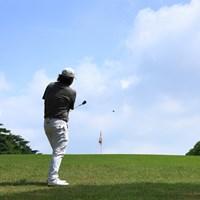 Hole1 par4 438yards approach shot 2021年 アジアパシフィックダイヤモンドカップゴルフ 3日目 大槻智春