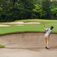 hole15 par4 413yards second shot 2021年 アジアパシフィックダイヤモンドカップゴルフ 最終日 浅地洋佑