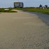砂地のエリアだらけ。「全米プロ」の会場キアワアイランド・オーシャンコース(撮影/田邉安啓) 2021年 全米プロゴルフ選手権  事前 キアワアイランド・オーシャンコース