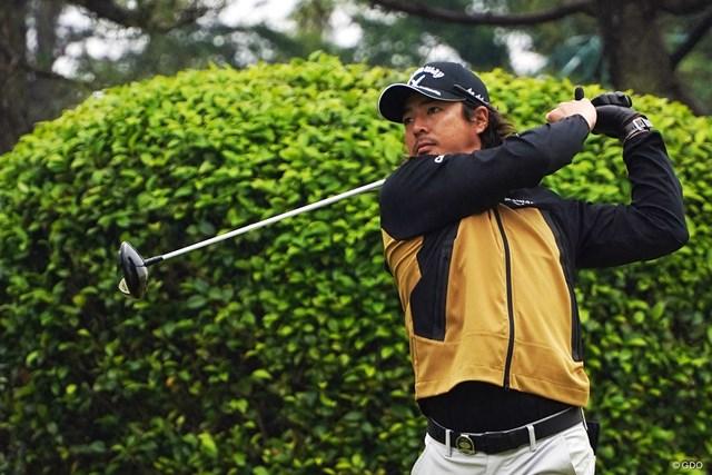 2021年 ゴルフパートナー PRO-AMトーナメント 事前 石川遼 雨がぱらつくなか最終調整を図った石川遼
