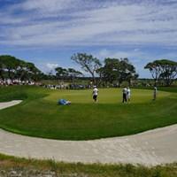今週のコースはグリーン周りの難易度も高い(撮影/田邉安啓) 2021年 全米プロゴルフ選手権 事前 ロリー・マキロイ