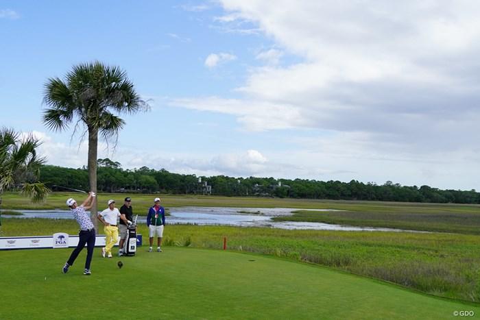 ここまで湿地帯が広がる風景は日本にはない(撮影/田邉安啓) 2021年 全米プロゴルフ選手権 事前 キアワアイランド・オーシャンコース