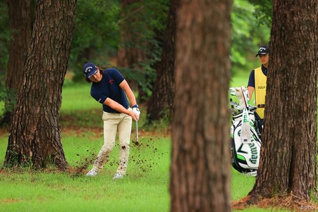 2021年 ゴルフパートナー PRO-AMトーナメント 初日 石川遼 Hoe10 par5 591yards second shot