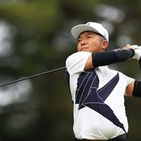 Hole8 par4 455yards tee shot 2021年 ゴルフパートナー PRO-AMトーナメント 初日 片山晋呉