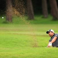 Hole6 par4 309yards bunker shot 2021年 ゴルフパートナー PRO-AMトーナメント 初日 比嘉一貴
