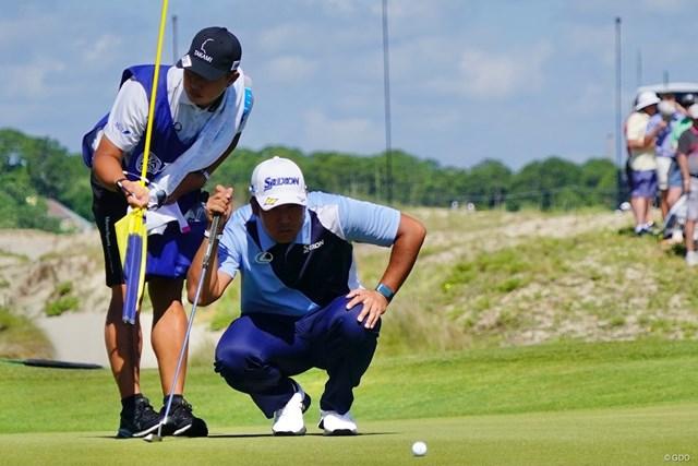 2021年 全米プロゴルフ選手権 初日 松山英樹 メジャー連勝への戦いを始めた松山英樹(撮影:田辺安啓)