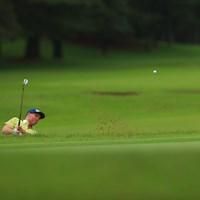 Hole10 par5 519yards bunker shot 2021年 ゴルフパートナー PRO-AMトーナメント 2日目 アダム・ブランド