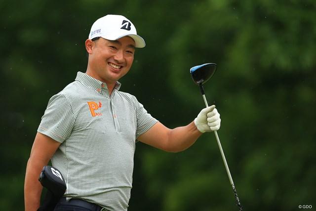 2021年 ゴルフパートナー PRO-AMトーナメント 2日目 市原弘大 Thank you smile