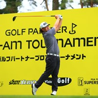 Hole10 par5 519yards tee shot 2021年 ゴルフパートナー PRO-AMトーナメント 2日目 大槻智春