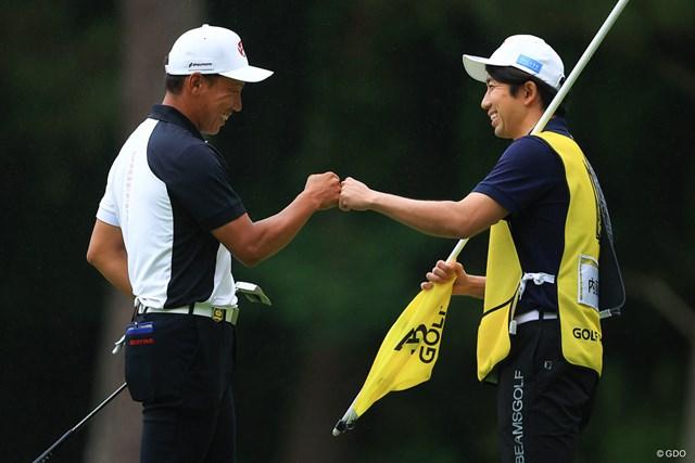 2021年 ゴルフパートナー PRO-AMトーナメント  3日目 内藤寛太郎 一心同体で最終日に臨む2人