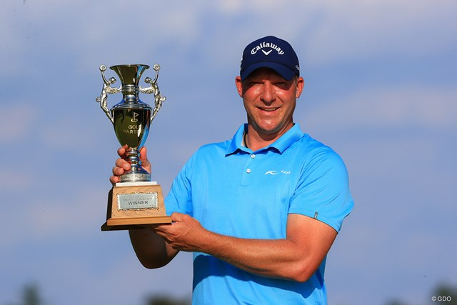 2021年 ゴルフパートナー PRO-AMトーナメント 4日目 ショーン・ノリス ショーン・ノリスが三つどもえのプレーオフを制し、ツアー5勝目を挙げた