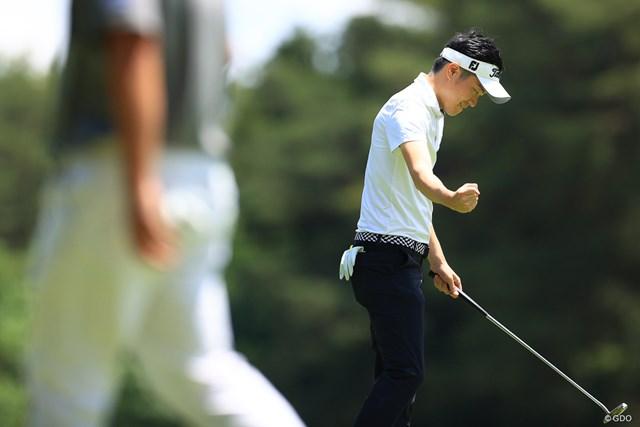 2021年 ゴルフパートナー PRO-AMトーナメント 4日目 アマチュア プロの前で堂々バーディ