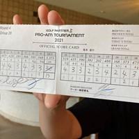 「58」のスコアカード 2021年 ゴルフパートナー PRO-AMトーナメント 4日目 キム・ソンヒョン