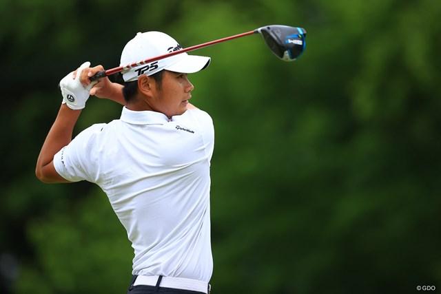 2021年 ゴルフパートナー PRO-AMトーナメント 3日目 久常涼 首位発進した18歳の久常涼(写真は2021年「ゴルフパートナー PRO-AMトーナメント」)