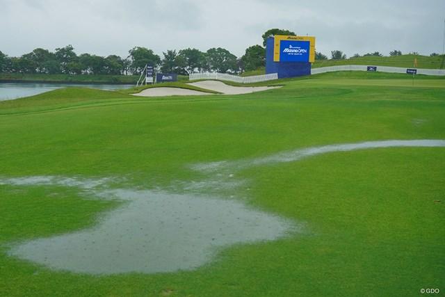 2021年 ~全英への道~ミズノオープン 初日 大雨 大会初日は大雨で中止。54ホール短縮競技に