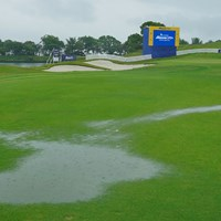 大会初日は大雨で中止。54ホール短縮競技に 2021年 ~全英への道~ミズノオープン 初日 大雨