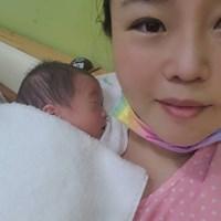 出産を報告したアン・ソンジュ(提供:JOINT ONE) 2021年 アン・ソンジュ