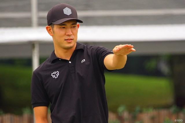2021年 日本ツアー選手権 森ビル杯 Shishido Hills  事前 中島啓太 「アマチュアとしてこの試合に出られるとは思っていなかった」と驚いた中島啓太だったが、いつも通り入念な準備で臨む