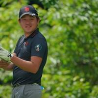 出入りの激しいゴルフに。1オーバー53位タイスタート。 2021年 日本ツアー選手権 森ビル杯 Shishido Hills 初日 米澤蓮