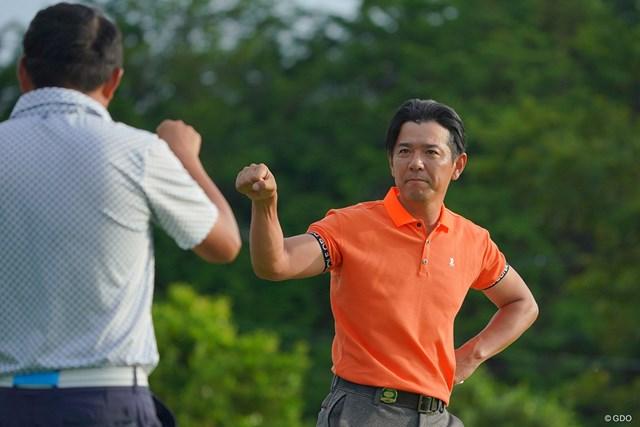 2021年 日本ツアー選手権 森ビル杯 Shishido Hills 初日 矢野東 43歳の矢野東が大会自己ベスト更新のドヤ顔?