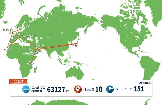 2021年 ポルシェ ヨーロピアンオープン 事前 川村昌弘マップ しばらくは欧州諸国でのプレーが続きそうです
