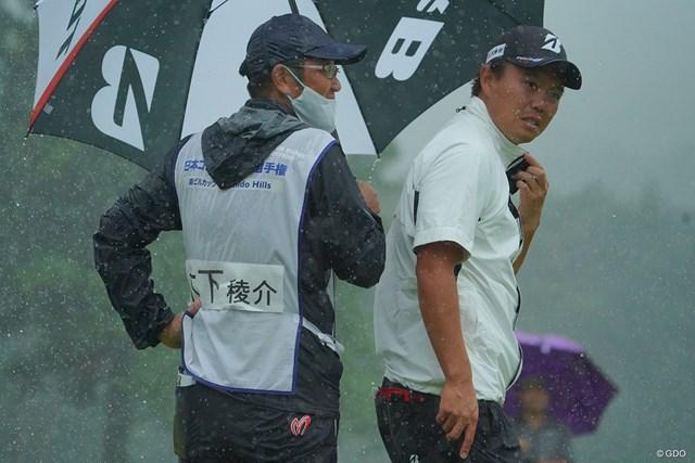 2021年 日本ツアー選手権 森ビル杯 Shishido Hills 2日目 木下稜介 それにしてもこの雨、何とかしてくれませんか?