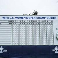 ボードに名前を刻むのは誰か 2021年 全米女子オープン 初日 リーダーボード