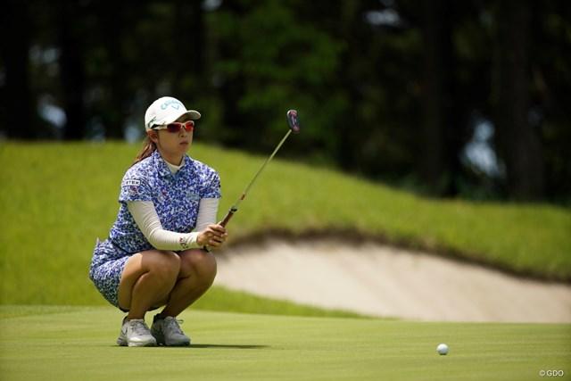2021年 ヨネックスレディスゴルフトーナメント 2日目 小楠梨紗 小楠梨紗はウェイティングからの出場