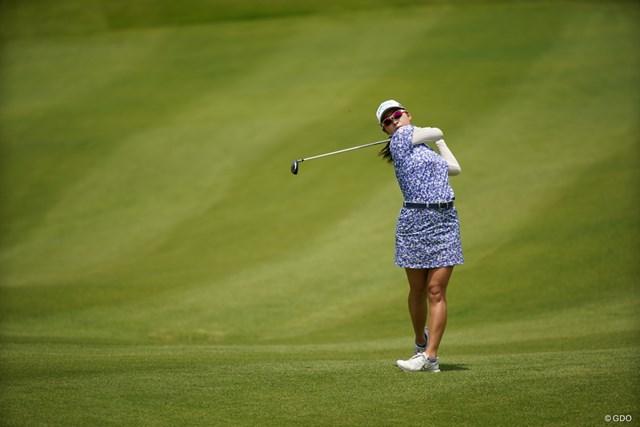 2021年 ヨネックスレディスゴルフトーナメント  2日目 小楠梨紗 ツアー初優勝を目指す小楠梨紗