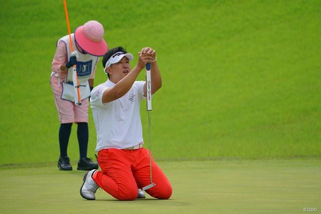 2021年 日本ツアー選手権 森ビル杯 Shishido Hills 3日目 上井邦裕 キャディさん、一緒に悲しんでくれよ。
